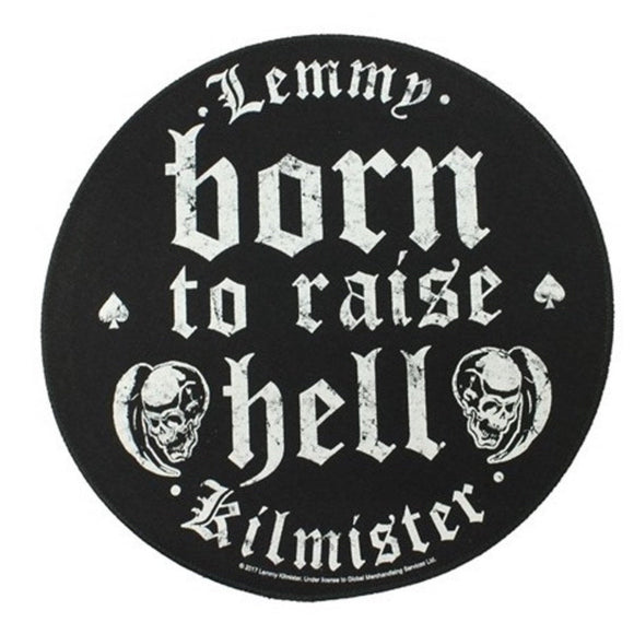 XLG Lemmy Kilmister Born To Raise Hell Back Patch Motorhead Rock Sew On Applique