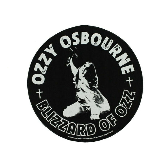 XLG Ozzy Osbourne Blizzard Of Ozz Back Patch Heavy Metal Jacket Sew On Applique