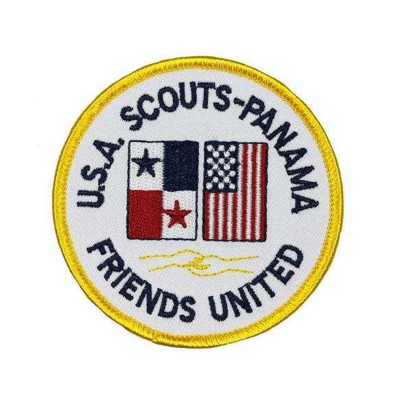 USA Scouts Panama Friends Badge Patch United Scout Embroidered Iron On Applique
