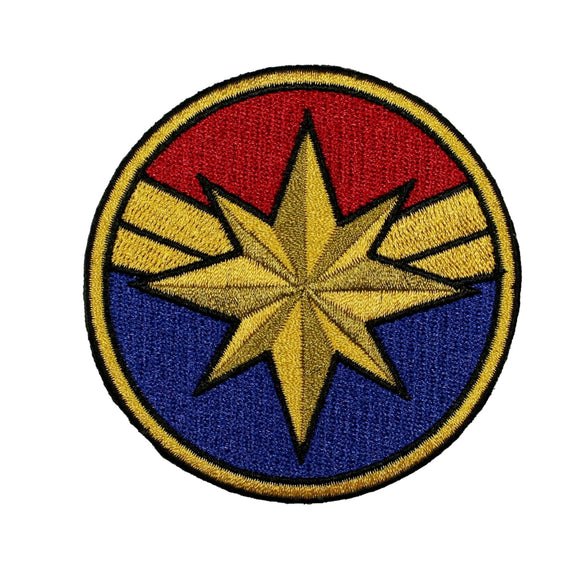 Captain Marvel Costume Patch Superhero Woman Disney Embroidered Iron On Applique
