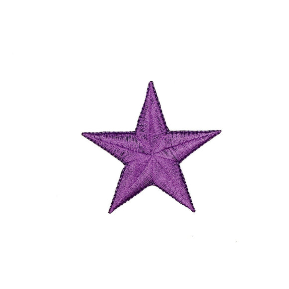 2 1/2 INCH Purple Star Patch Astronomy Astrology Embroidered Iron On Applique