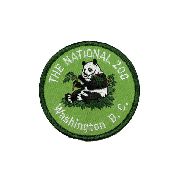 The National Zoo Washington DC Patch Panda Travel Embroidered Iron On Applique