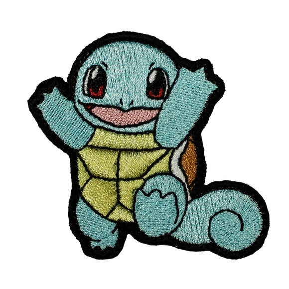 Pokémon Squirtle Patch Water Start Original Turtle Embroidered Iron On Applique
