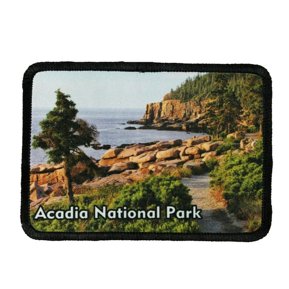 Acadia National Park Patch Travel Cliffs Beach Dye Sublimation Iron On Applique