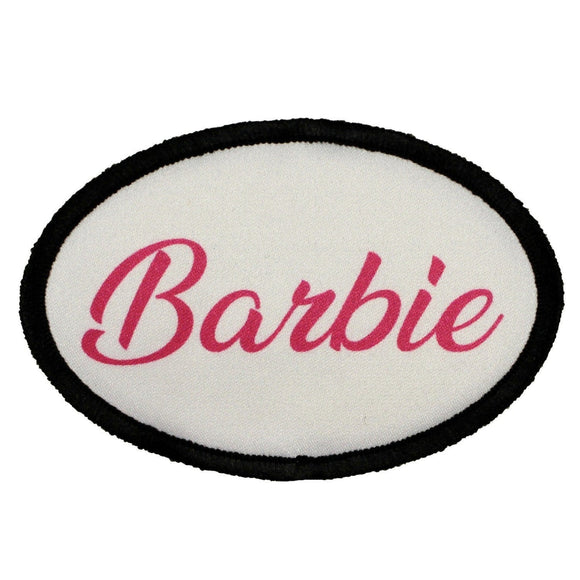 Barbie Name Tag Patch Costume Girl Badge Sign Dye Sublimation Iron On Applique
