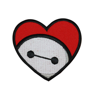 Big Hero 6 Baymax Heart Patch Disney Child's Outfit Embroidered Iron On Applique