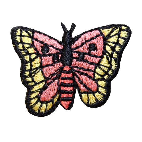 ID 2342 Butterfly Flying Patch Garden Insect Bug Embroidered Iron On Applique