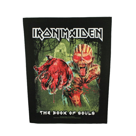 XLG Iron Maiden Eddie's Heart Back Patch Heavy Metal Band Sew on Applique