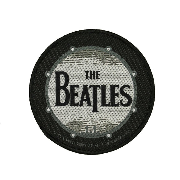 The Beatles Drumskin Patch Art English Rock Band Music Woven Sew On Applique