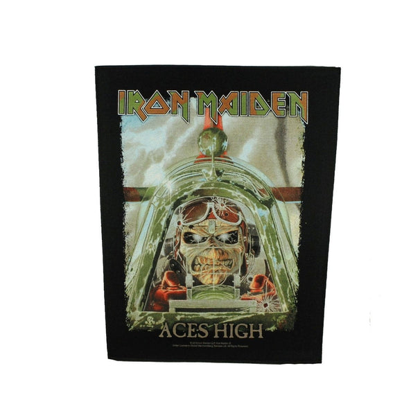 XLG Iron Maiden Aces High Back Patch Heavy Metal Rock Band Sew on Applique