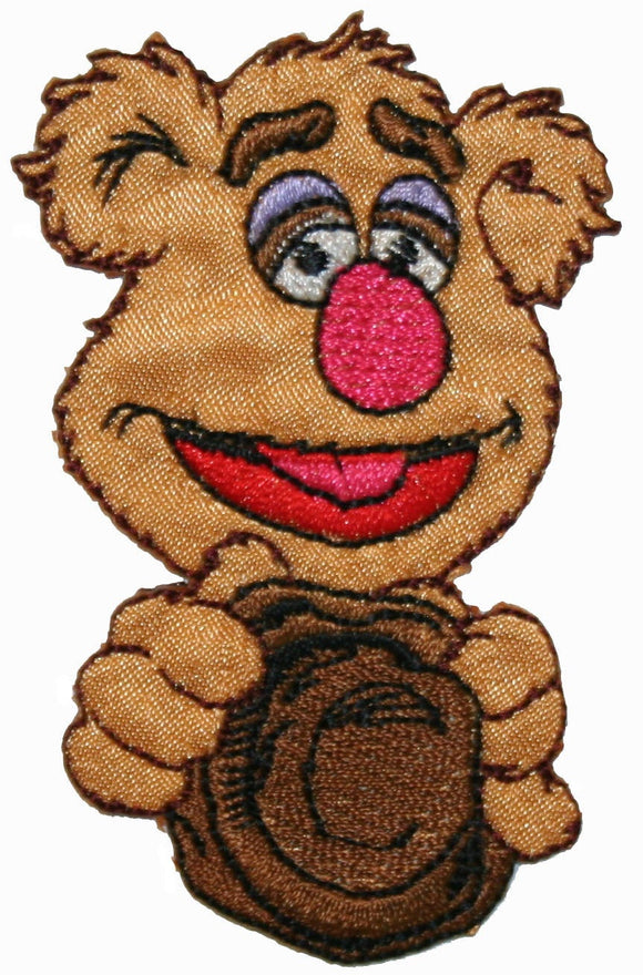 The Muppets Fozzie Bear Iron On Applique Patch
