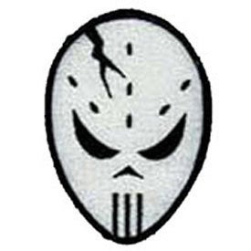Hockey Mask Patch Goaltender Evil Goalie Halloween Embroidered Iron On Applique