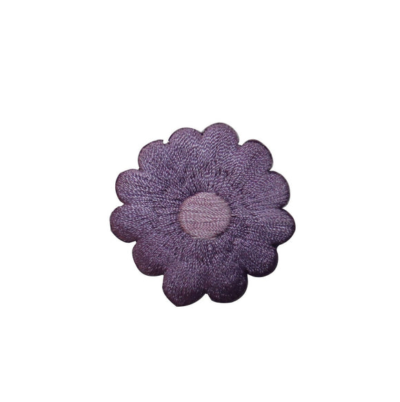 ID 6480 Purple Flower Blossom Patch Garden Design Embroidered Iron On Applique