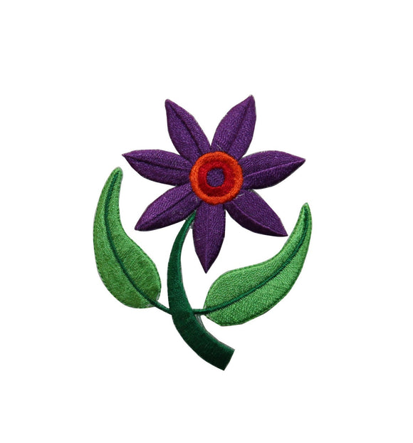ID 6501 Purple Daisy Flower Patch Garden Blossom Embroidered Iron On Applique