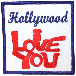 Hollywood I Love You Patch California Site Travel Embroidered Iron On Applique
