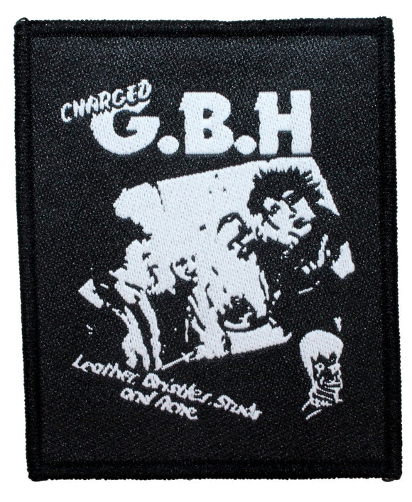 Charged G.B.H Great Bodily Harm Patch Punk Album Jacket Woven Sew On Applique