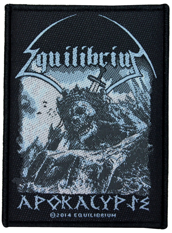 Equilibrium Apokalypse Patch Single Song Art Folk Metal Woven Sew On Applique