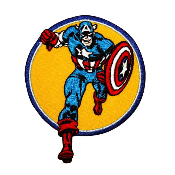 Captain America to the Rescue Superhero Patch Marvel Avengers Iron On Applique
