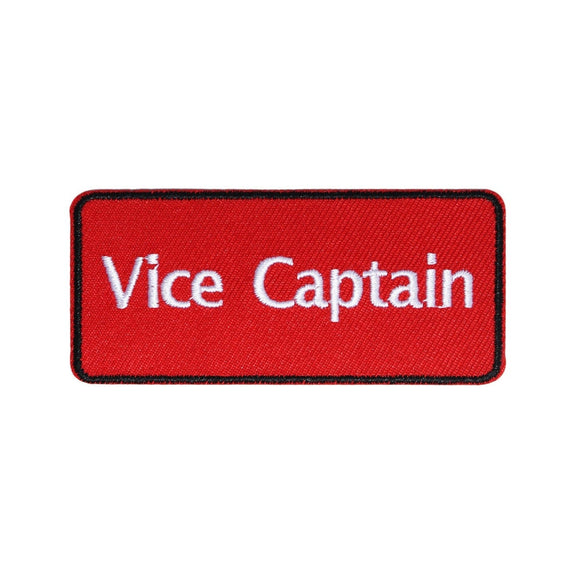 Vice Captain Red Team Patch Sports Clubs Assistant Embroidered Iron On Applique