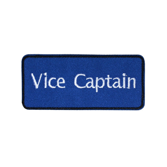 Vice Captain Blue Team Patch Sports Clubs Assistant Embroidered Iron On Applique