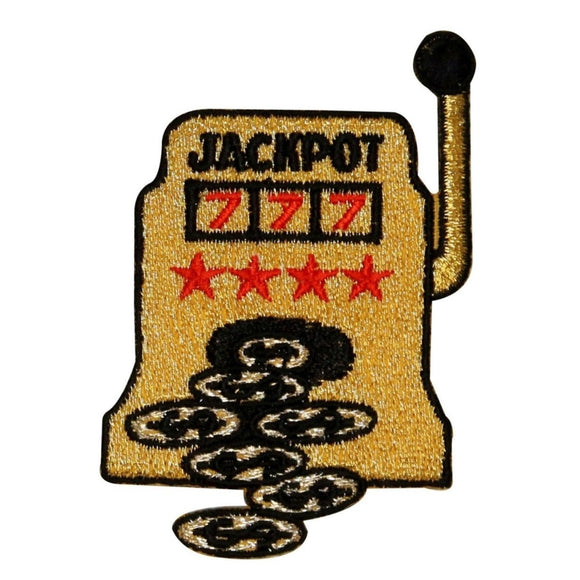 ID 0044 Casino Slot Machine Patch Jackpot Winning Embroidered Iron On Applique