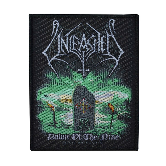 Unleashed Dawn of the Nine Patch Cover Art Death Metal Band Woven Sew On Applique