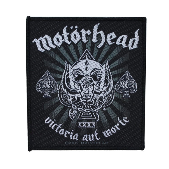 Motorhead Victoria Aut Morte Patch Heavy Metal Band Music Woven Sew On Applique