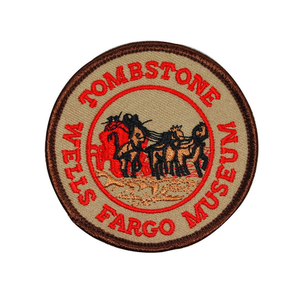 Tombstone Wells Fargo Museum Patch Travel Arizona Embroidered Iron On Applique