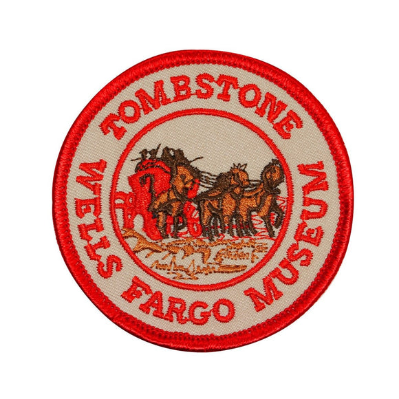 Wells Fargo Museum Tombstone Patch Red Travel Badge Embroidered Iron On Applique