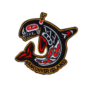 Vancouver Island Tribal Whale Patch Travel Canada Embroidered Iron On Applique