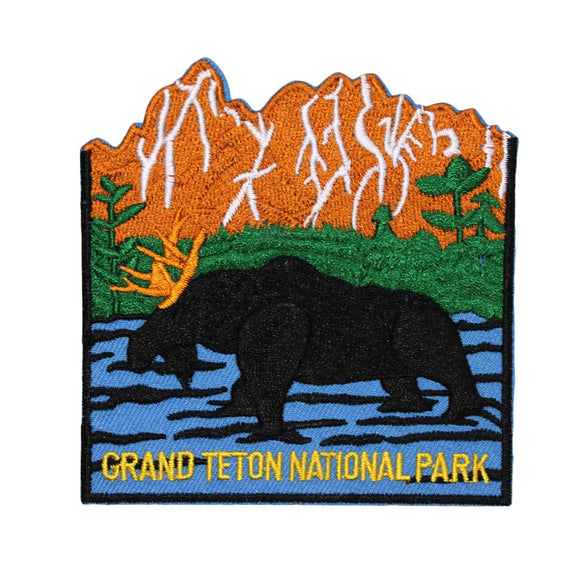 Grand Teton National Park Patch Travel Badge Wyoming Embroidered Iron On Applique