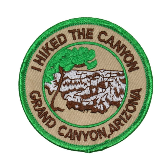 I Hiked The Grand Canyon Arizona Patch National Park Embroidered Iron On Applique