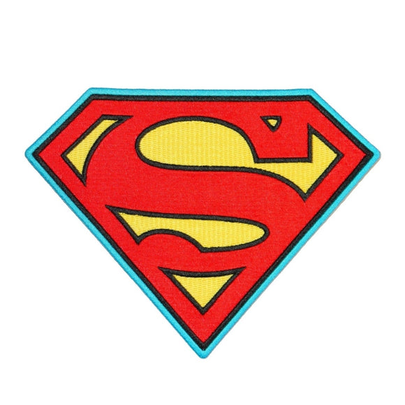 XLG Superman Chest Patch Superhero Costume S-Logo DC Comics Iron-On Applique