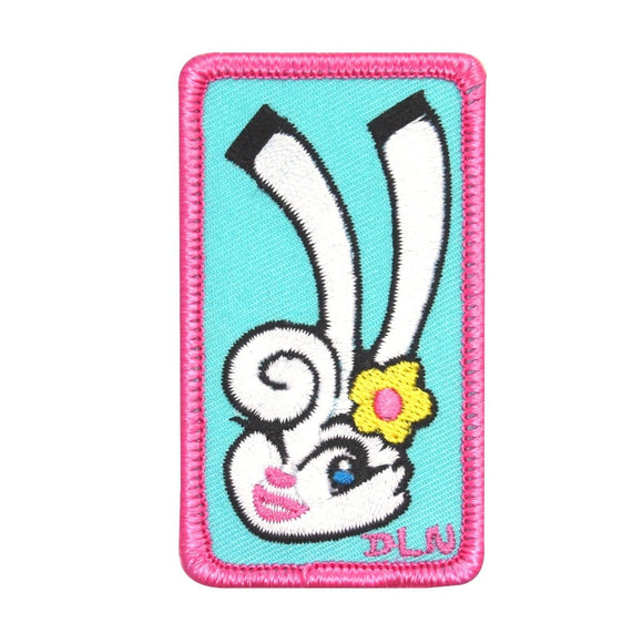 Cute Bunny Babe Patch Pretty Pink Rabbit Artist Dean Lee Norton Iron On Applique