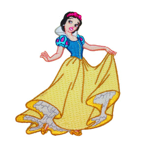 Princess Snow White Patch Classic Disney Movie Craft Apparel Iron-On Applique