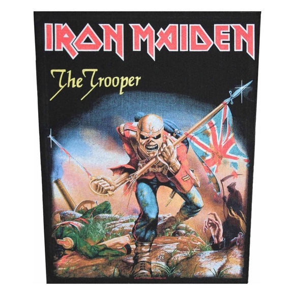 XLG Iron Maiden The Trooper Back Patch Heavy Metal Band Jacket Sew On Applique