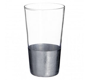 Crosshatched Set of 4 Highball Glasses