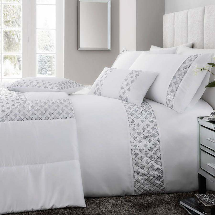 Darcy Duvet Cover Set, White