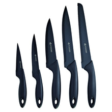Load image into Gallery viewer, Silhouette 6pc Black Knife Block Set
