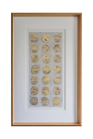 Metallic Fossil Study Framed Art