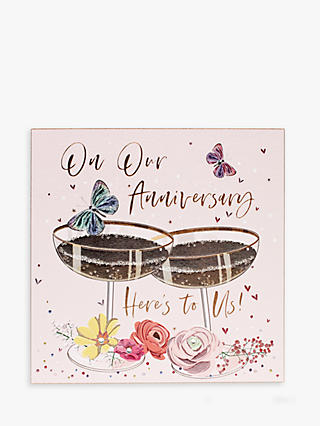 Here's To Us Anniversary Card