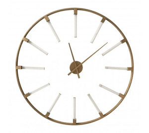 Beauly Gold Metal Round Wall Clock