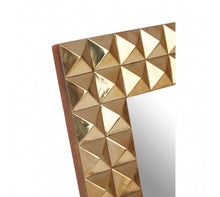 Load image into Gallery viewer, GOLD FINISH PYRAMID STUD PHOTO FRAME