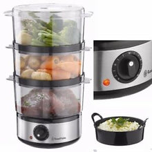 Load image into Gallery viewer, Russell Hobbs Steamer - Brushed Stainless Steel