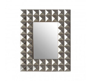 SILVER FINISH PYRAMID STUD PHOTO FRAME