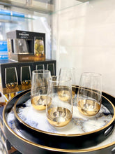 Load image into Gallery viewer, Gold Dipped Set of 4 Highball Glasses