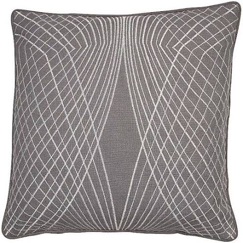 Spiro' Grey Embroidered Cushion 45 x 45cm