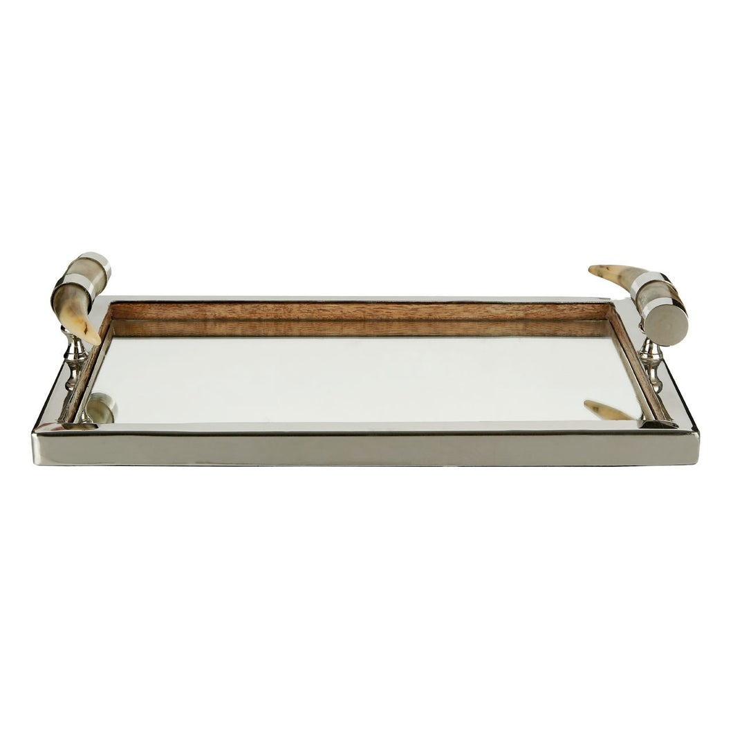Mirror Tray with Horn Handles