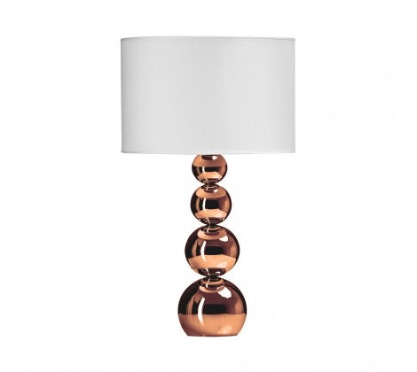 Metallic Globes Touch Lamp (Copper)