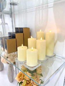 Luxe Collection Natural Glow LED Ivory Candle